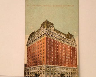 ON SALE Chicago Illinois IL NEw Sherman House and College Inn Early 1900's Antique Old Vintage Postcard