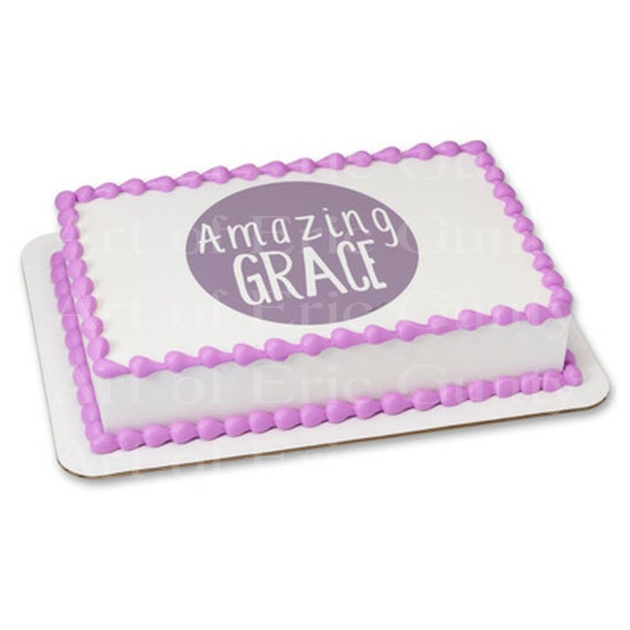 Amazing Grace Religious Easter - Edible Cake and Cupcake Topper For Birthday's and Parties! - D22041