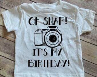 OH Snap! It's my birthday! Camera, Birthday Shirt, T-Shirt, Tee