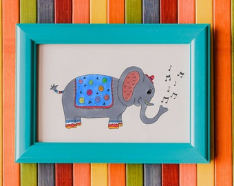 Mr Elephant Art Print - Jennifer Reid