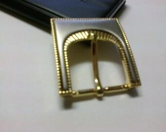Fancy gold tone and silver crossing 2.7 cm loop * BO44 *.
