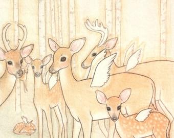 LAST ONE - Angel Deer Print