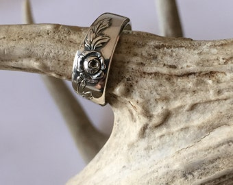 Sterling Belle Rose Spoon Ring