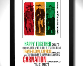 THE JAM - The Gift Album Limited Edition Unframed A4 Art Print with Song Titles