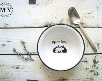 Mama Bear Enamel Bowl - Gift for Mom