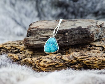 Blue Sky Azurite Sterling Silver Necklace