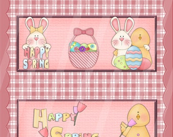 Two Digital Printable Easter Candy Bar Wrappers