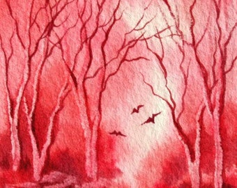 Lipstick Forest - ACEO