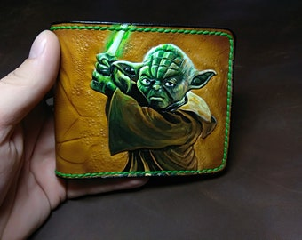 Master Yoda's handmade leather wallet from Star Wars universal