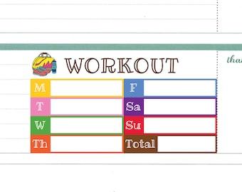 weekly exercise log