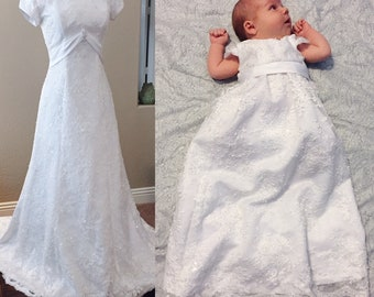 Turn your wedding dress into an Heirloom baby blessing dress