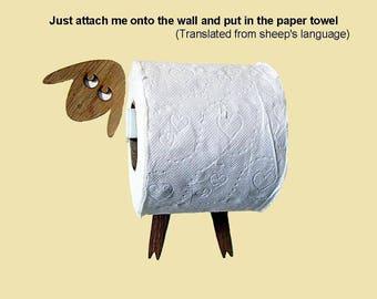 Lamb funny toilet paper roll holder