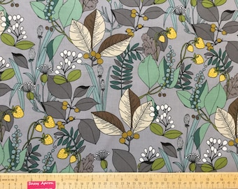 New ~ A Ghastlie Botanical Gray Sage Color ~ quilting cotton fabric ~ Just Released The Ghastlies from Alexander Henry Cotton