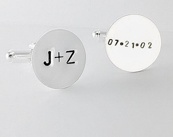 Personalized Cuff Links Wedding Monogrammed Cuff Links Father of the Bride Gift Groom Best Man Groomsmen Custom Cuff Links, Clothing Gift