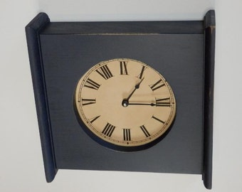 UNFINISHED  Mantel Clock with choice of clock face,This listing is for a unfinished mantel clock,Photos show a finished product