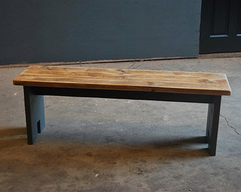 Bench - Vintage Kitchen/Dining Bench made from Reclaimed Timber