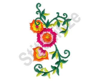 Lotus Vines - Machine Embroidery Design, Flowers, Vine