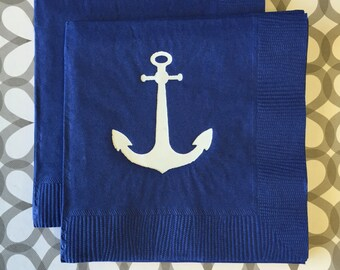 BN1236 - anchor beverage napkin, 40 ct