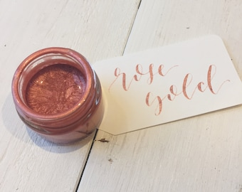Rose Gold Calligraphy Ink   Calligraphy Kit   Handmade Calligraphy Ink   Modern Calligraphy Ink   Dip Pen Ink   Copperplate Calligraphy Ink