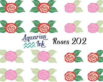 Vinyl Sticker Rose Embellishments, Pink and Red Variety Roses for accents with your Vinyl Decal Projects, DIY Crafts, or Planner Stickers