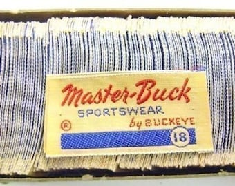 40 Vintage 1950's Cloth Master Buck Sportswear Labels