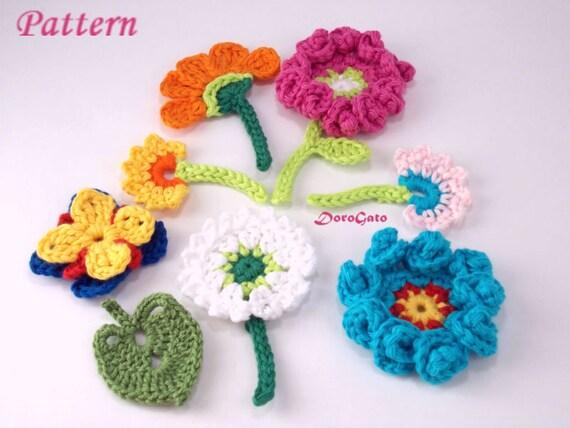 Crochet flowers patterns, crochet pattern Book, Easy patterns ...
