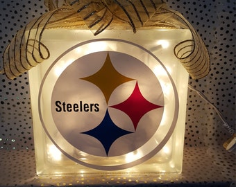 Pittsburgh Steelers Lighted Glass Block