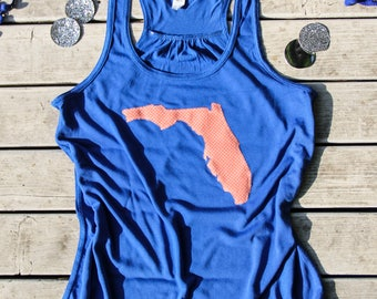 Florida Gators Flowy Racerback Tank Top, Florida Tank Top, Gators Tank Top, Women's Tank Top