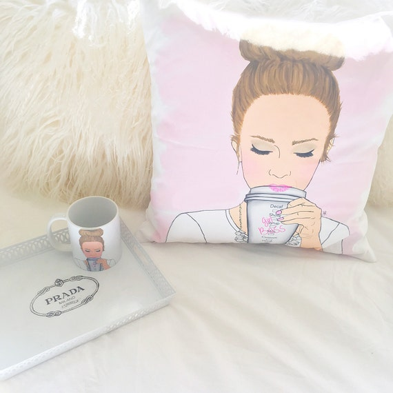 Customizable Girlboss Pillow, Girlboss Pillow, Coffee Lover Pillow, Girly Pillow, Boss Pillow