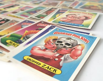 Garbage Pail Kids Cards, Kids Stickers, 1986 GPK Joke Gag Gift, Mother's Day Gift, Novelty Gift, 1980s Cabbage Patch Spoof, SET OF 30