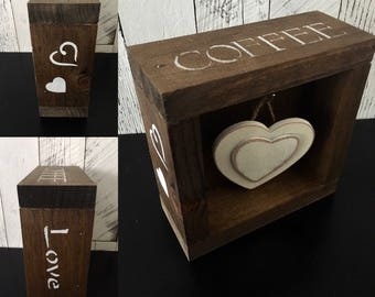 Rustic Coffee Bar/Coffee Station/Rustic Coffee Decor/Coffee Bar Accessories/Farmhouse Decor/Rustic Decor