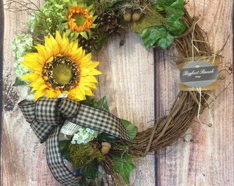 front door wreath, all season wreath, spring wreath, summer wreath, floral wreath, large wreath, indoor wreath, outdoor wreath, fall wreath