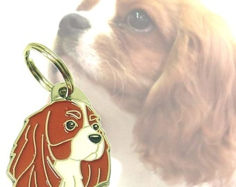 Pet tag CAVALIER KING CHARLES spaniel, engraved (blenheim)