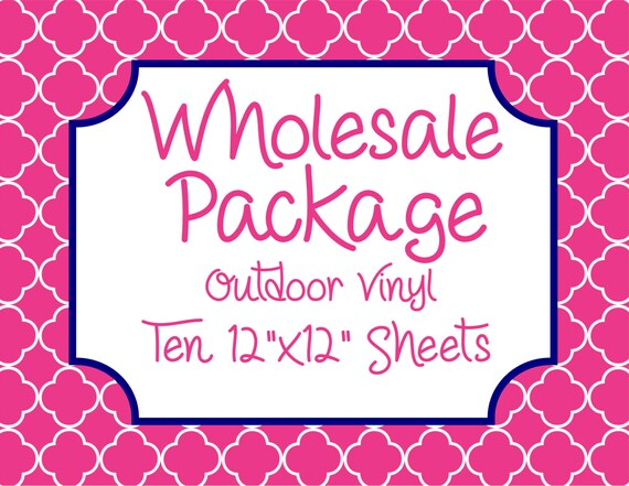 """Wholesale Package for Ten 12""""x12"""" Outdoor Vinyl Sheets // Beautiful, Vibrant Patterns"""
