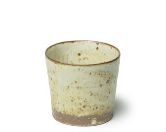 Cup, Soba choko (buckwheat noodle cup), soup cup, Tumbler in straight edge, Wood fired pottery, wood kiln, Japanese Pottery, Mashiko