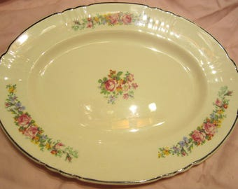 Antique Myott Staffordshire Oval Plate Art Deco 1950s
