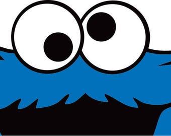 Cookie Monster Vinyl Decal Sticker JDM
