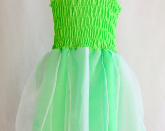 SALE for 1-2 Years, Tinkerbell Dress, Toddler Fairy Dress, Green Fairy Dress, Tinkerbell Fairy Dress, Toddler Costume, Green Party Dress