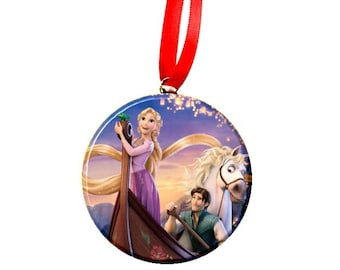 Tangled Rapunzel Boat Christmas Tree Ornament