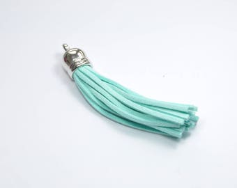 BR962 - 1 suede tassel blue and silver