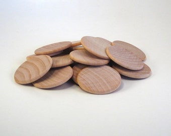100 Wood disks - 1.5 inch coin
