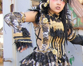 Gold Raven Visual Kei Outfit
