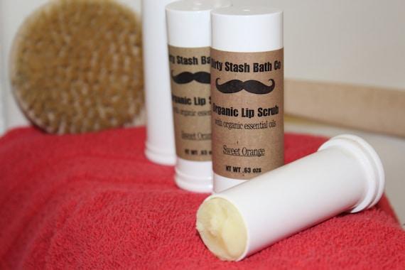 All Natural Organic moisturizing Aloe Vera Lip Scrub Sweet Orange Oil