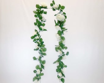 Roses Garland Artificial Silk Flowers 5.5 ft Vine 335
