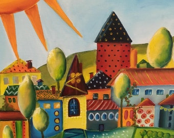 Village (naive painting)