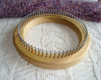 Kids Size Hat Knitting Loom  - Your choice of Gauge  -   ( Youth about 7-12 yrs ) - Wood - board -  Cottage Looms