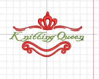"Stickdatei ""Knitting Queen"""