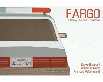 Retro print Fargo movie poster in various sizes