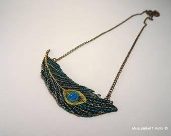 Textile necklace GATSBY