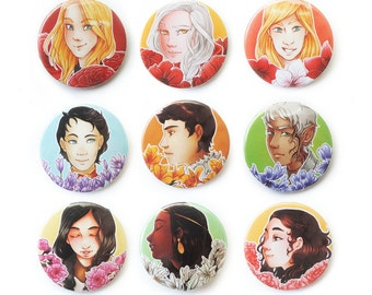 Throne of Glass 【BUTTON 38mm】